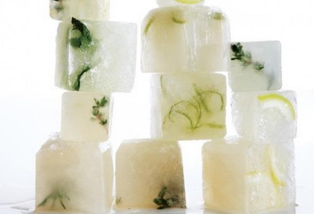 Citrus-Lemongrass Ice Cubes