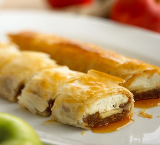 Chavrie and Goats Cheese Apple Strudel