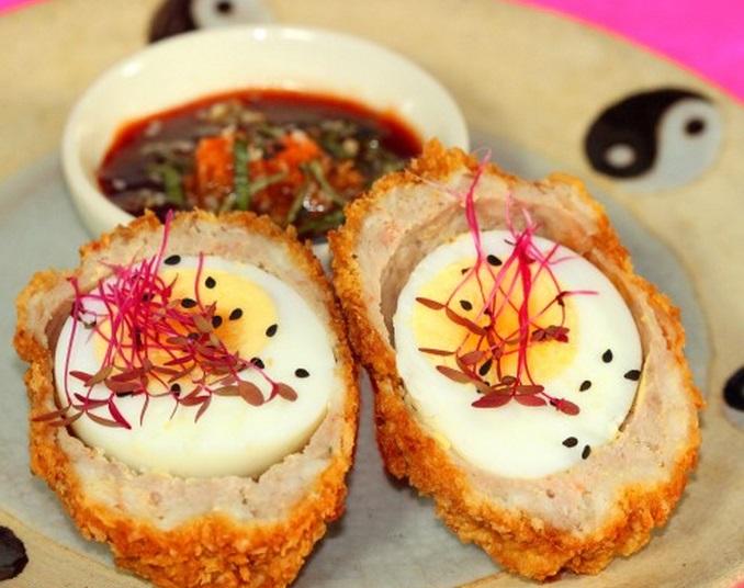 Asian Shrimp Scotch Eggs