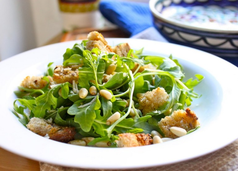 Toasted Pine Nut & Arugula Salad