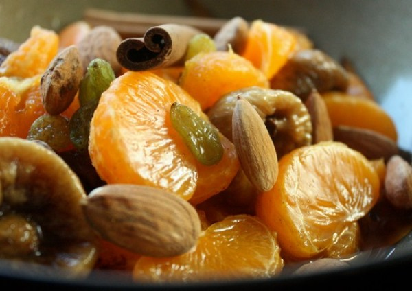 Clementine, Fig and Almond Salad