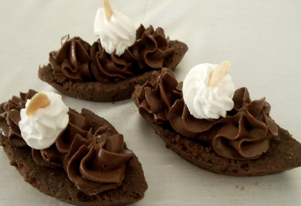 Chocolate Ganache Dessert Boats
