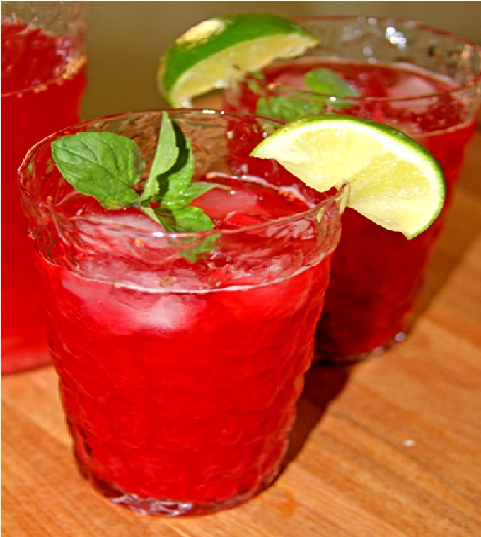 Raspberry Lime Iced Tea