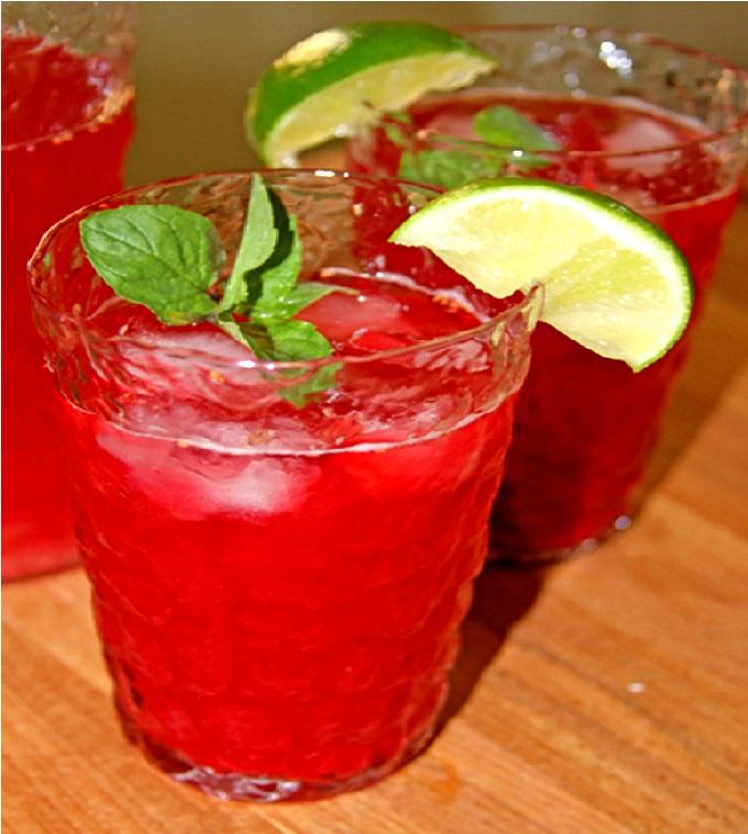Raspberry Lime Iced Tea