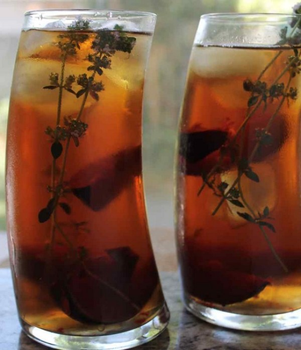 Plums and Thyme Iced tea