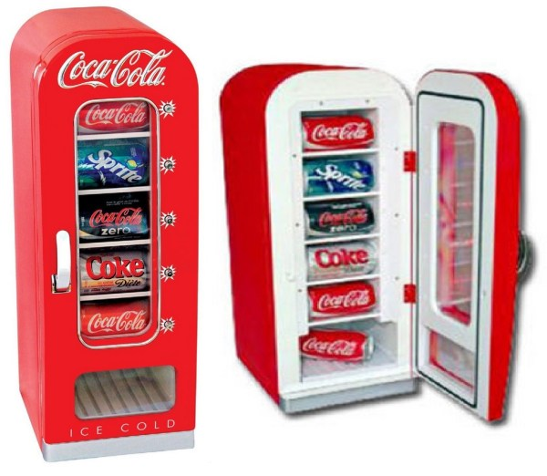 Coca Cola Mini Fridge Can Dispenser