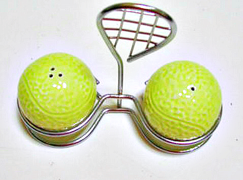 Tennis Ball Salt n Pepper Shaker
