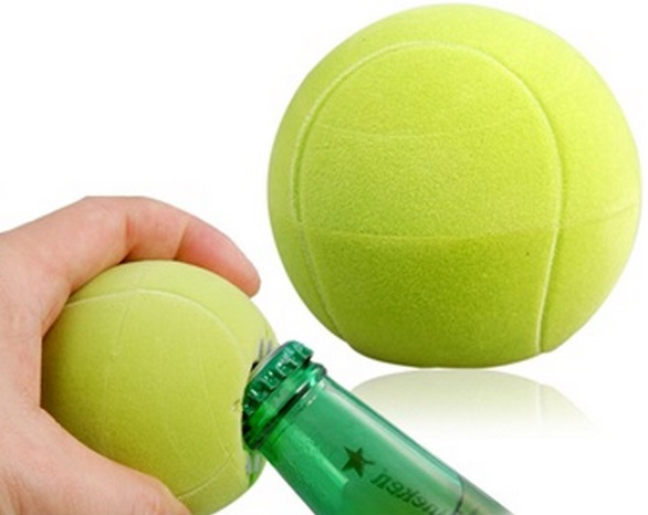 Tennis Ball Bottle Opener