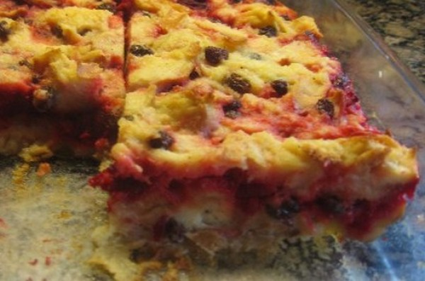 Roasted Beetroot Bread Pudding