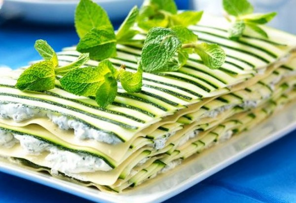Soft Cheese And Zucchini Lasagna