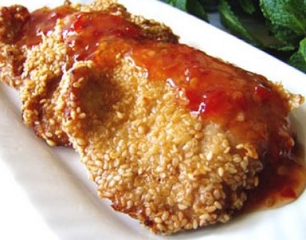 Pork Sesame Fritters