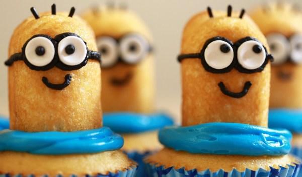Twinkie Minion Banana Cupcakes