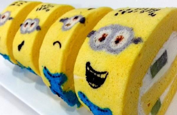 Minion Kiwi Fruit Cake Roll