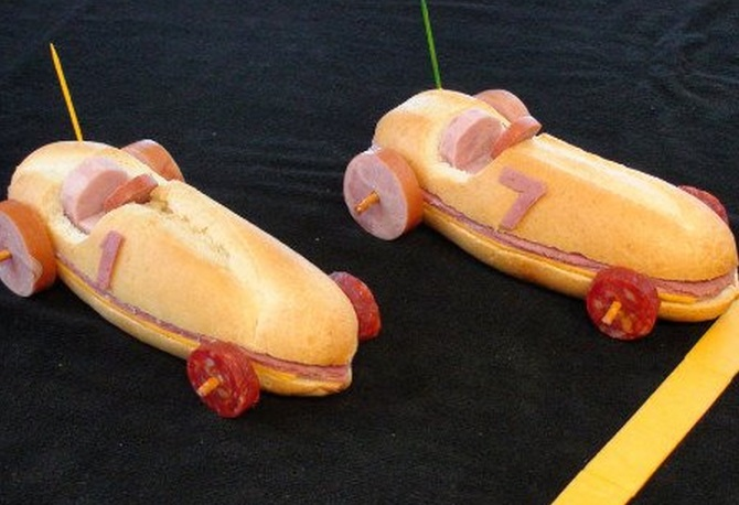 Sandwich Race Cars