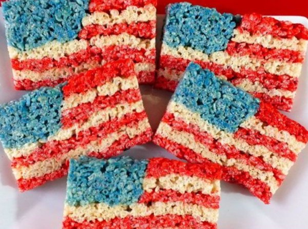Independence Day Rice Krispie Treats