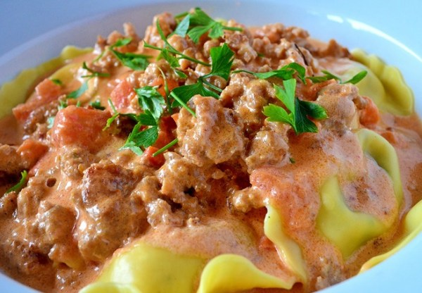 Sausage and Vodka Pasta