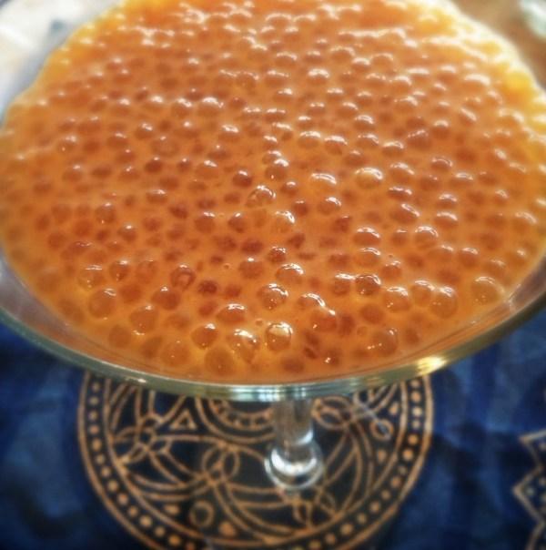 Lemony Tapioca Pudding with Coconut Milk