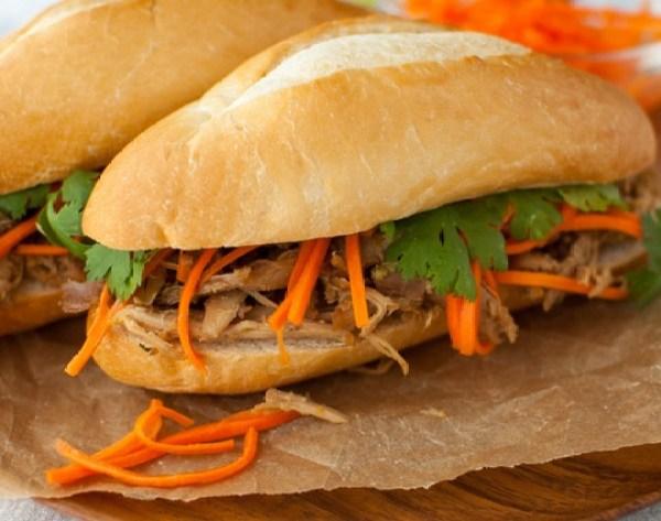 Roasted Chicken Banh Mi Sandwich