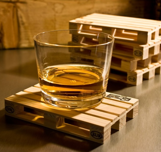 Mini Wooden Pallet Drink Coasters
