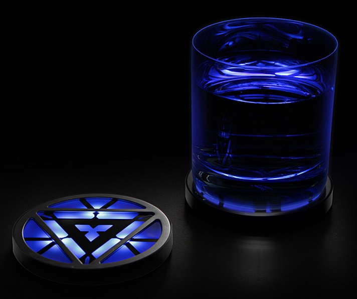 Light-Up Iron Man: Arc Reactor Drink Coasters