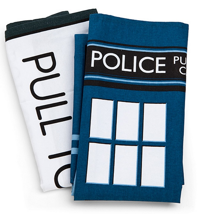 Doctor Who TARDIS Tea Towels