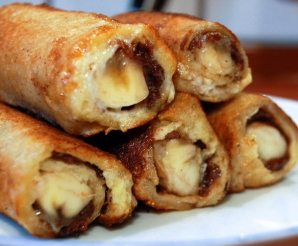 Nutella & Banana French Toast Roll-Ups