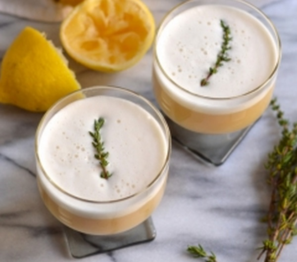 Maple & Thyme Whiskey Sour Recipe