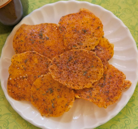 Homemade Chili Cheese Crisps