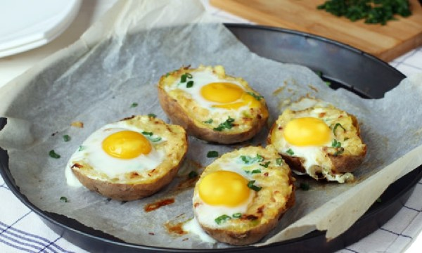 Egg on Top Twice Baked Potatoes