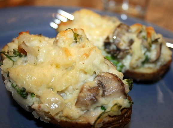 Cheese and Mushroom Twice-Baked Potatoes