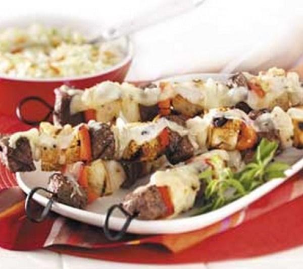 Steak Sandwich Kabobs