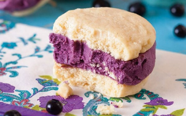 Lemon & Blueberry Ice Cream Sandwiches
