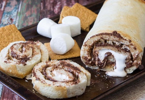 S'mores Cake Roll