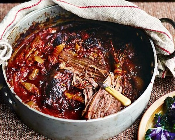 Slow-Cooked Bloody Mary Beef