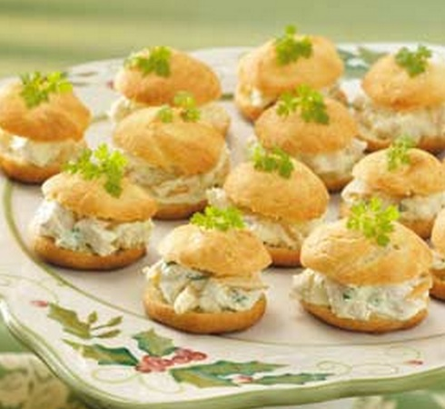 Curried Chicken Cream Puffs