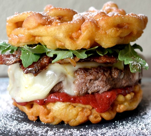 Cheeseburger Funnel Cake