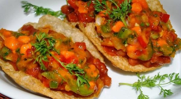 Mango Salsa & Baked Beans Tacos