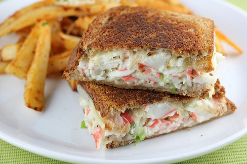 Crab & Cheese Grilled Sandwich