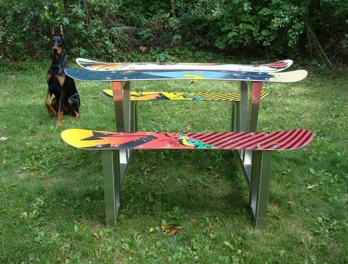 Snowboard Picnic Table