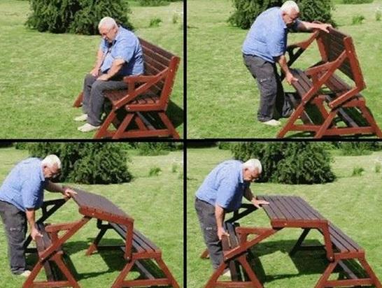 Transforming Picnic Table Bench