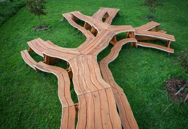Branching Picnic Table
