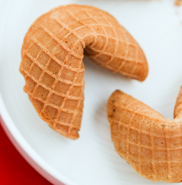 Waffle Cone Fortune Cookies