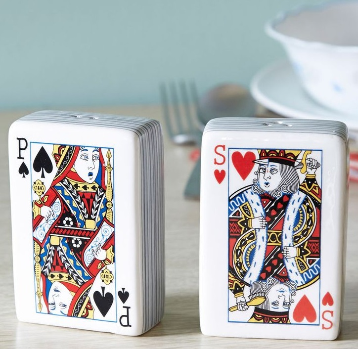 Playing Cards Salt and Pepper Shakers