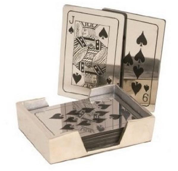 Metal Playing Card Coasters