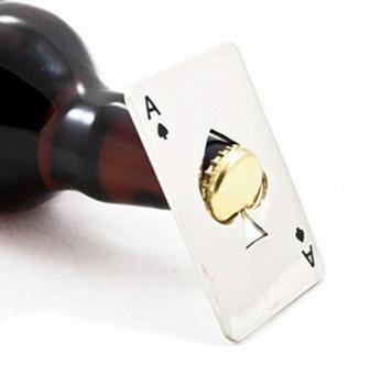 Playing Card Bottle Cap Opener