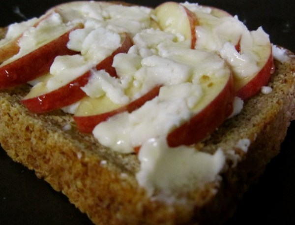 Apple and Goat Cheese on Toast