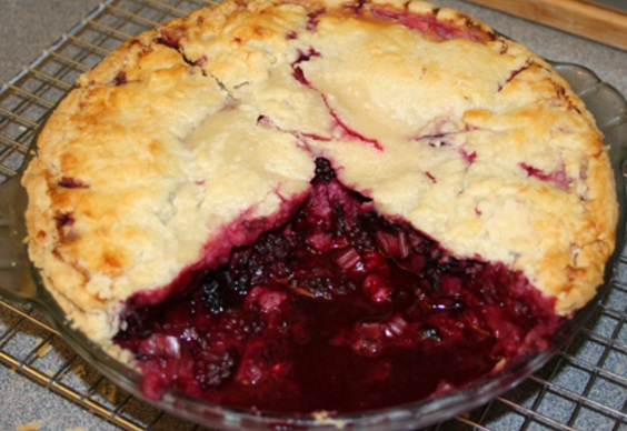Blackberry & Rhubarb Pie