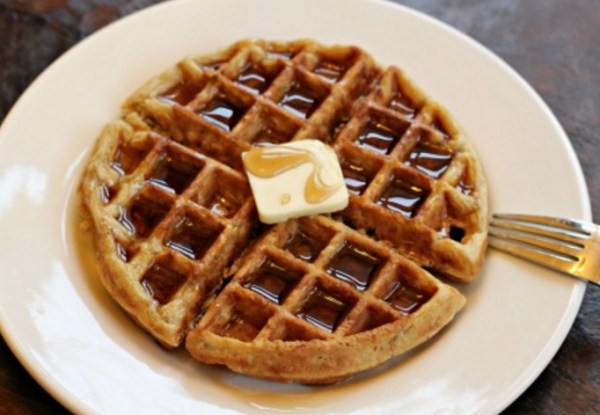 Homemade Oatmeal Waffles