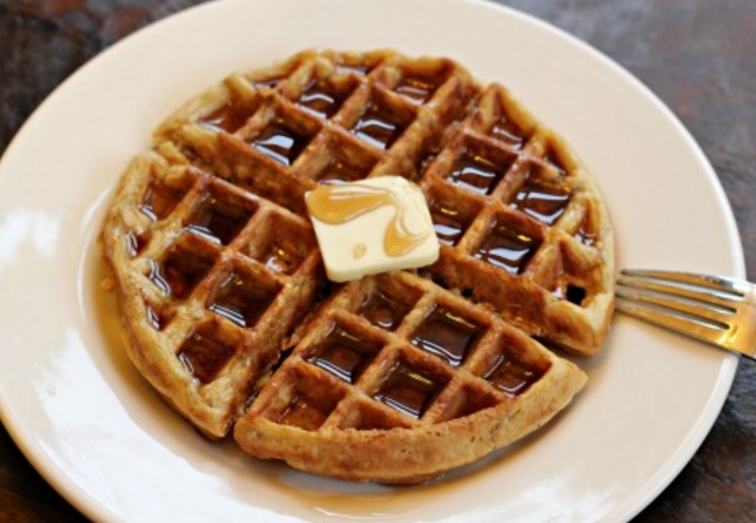 Homemade Oatmeal Waffles