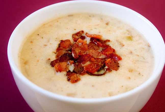 Lighter New England Clam Chowder